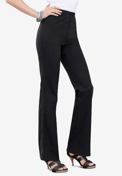 Bootcut Pull-On Stretch Jean by Denim 24/7®, BLACK DENIM