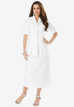Short Sleeve Skirt Suit,
