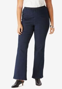 Pull-On Stretch Denim Bootcut Jean by Denim 24/7®, INDIGO WASH
