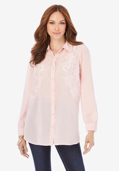 Embroidered Georgette Blouse,
