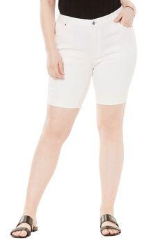 Cuffed Denim Short by Denim 24/7®, WHITE DENIM