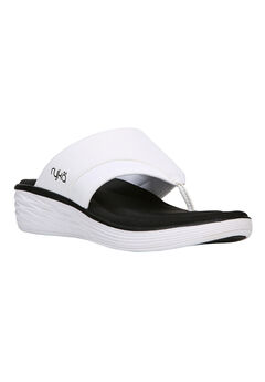Natalia Sandals by Ryka®, WHITE BLACK, hi-res
