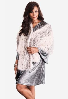 Faux-Fur Leopard Shrug by Donna Salyers Fabulous Furs, ARCTIC LEOPARD