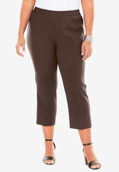 Bend Over® Capri Pant, CHOCOLATE
