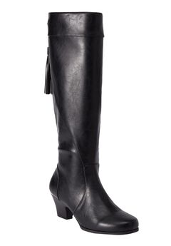 Abott Tall Calf Boots by Comfortview, BLACK, hi-res