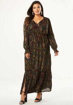 Crinkle Maxi Dress,