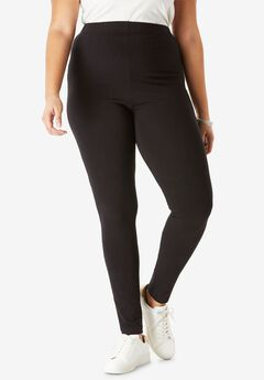 Ankle-Length Stretch Legging, BLACK