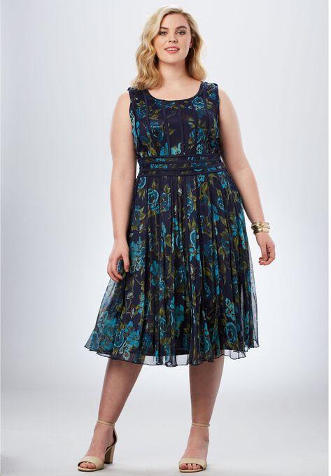 Mesh Dress Plus Size Evening Dresses Roamans