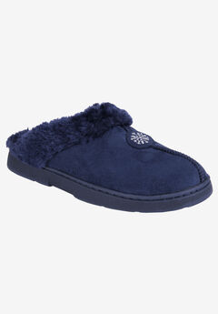 Clog with Fur Lining by Muk Luks®, NAVY