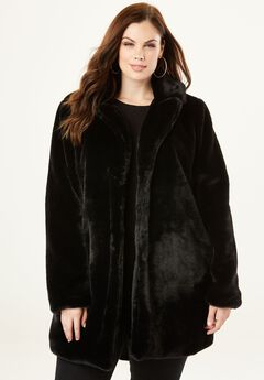 Notch Faux-Fur Coat,