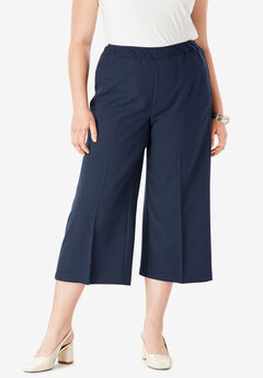 Bend Over® Culotte Pant, NAVY