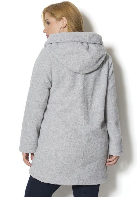 51ef84c0ea6 Hooded Textured Fleece Coat