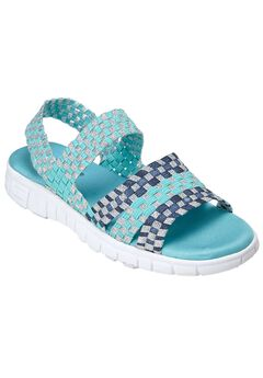 Lily Sandal by CV Sport by Comfortview®, TEAL MULTI