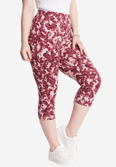 Printed Capri Leggings, ABSTRACT PRINT