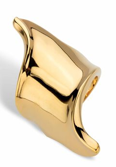 Gold-Plated Free-Form Ring,