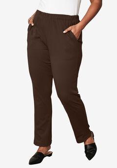 Soft Knit Straight-Leg Pant,