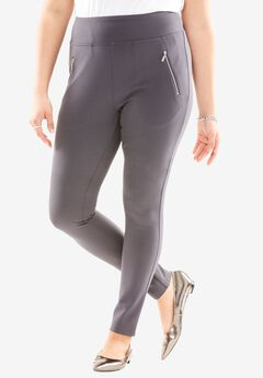 Zipper Pocket Ponte Leggings,