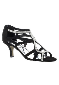 Flattery Pump by Easy Street®, BLACK SUEDE, hi-res