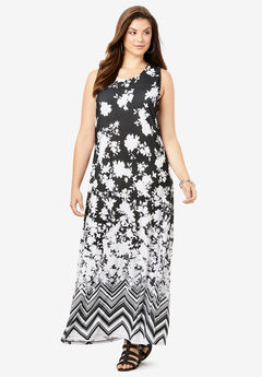 Ultra Smooth Print Maxi Dress,
