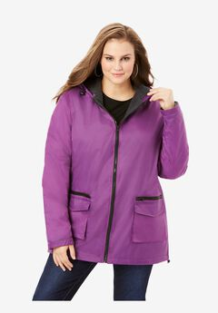 Hooded Jacket with Fleece Lining, PURPLE MAGENTA