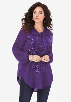 Sequin Floral Tunic,