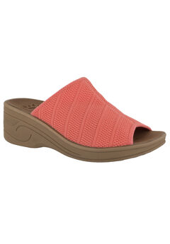 Airy Sandals by Easy Street®, CORAL STRETCH, hi-res