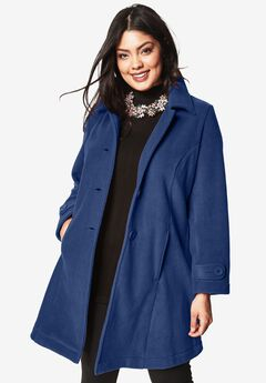 Plush Fleece Jacket, EVENING BLUE, hi-res