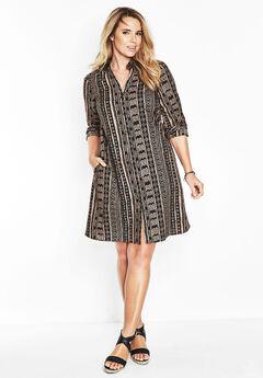Kate Dress, BROWN SUGAR PRINT, hi-res