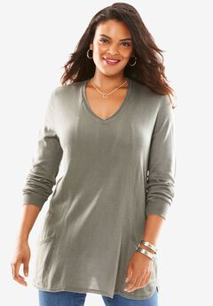 2-Pocket Tunic, SLATE, hi-res