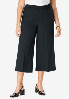 Bend Over® Culotte Pant, BLACK