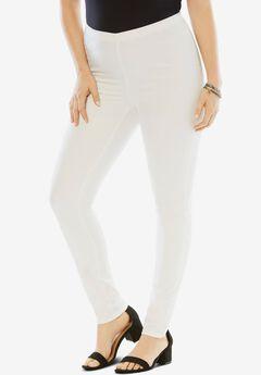 Skinny-Leg Pull-On Stretch Jean, WHITE DENIM