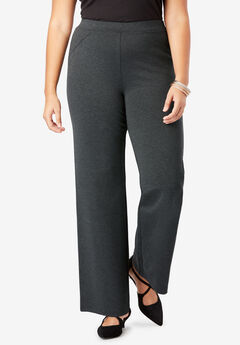 Ultimate Ponte Wide Leg Pant, HEATHER CHARCOAL