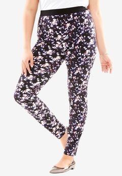 Fleece-Lined Leggings, ABSTRACT PRINT, hi-res