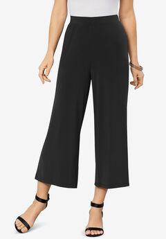 Ultrasmooth® Wide-Leg Crop Pant, BLACK