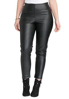 Faux Leather Leggings, BLACK, hi-res