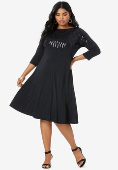 Ultrasmooth® Embellished Swing Dress,