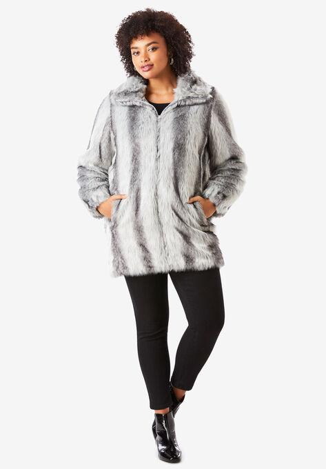 741f54711a87 Short Faux-Fur Coat