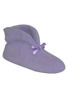 Micro Terry Cuff Slipper Booties by Muk Luks®, LAVENDER, hi-res