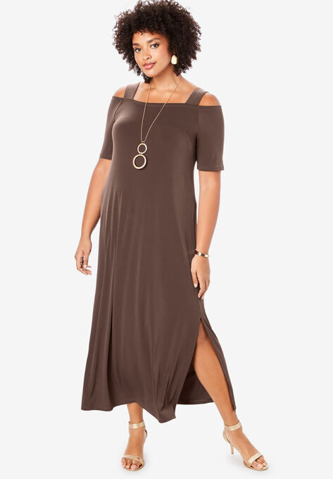 Cold-Shoulder Maxi Dress