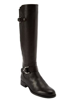 Jenelle Wide Calf Boot by Naturalizer®, BLACK, hi-res
