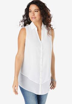 Felicity Tiered Sleeveless Big Shirt,