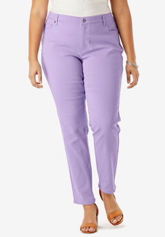 Pretty Boyfriend Jean by Denim 24/7®, BRIGHT LILAC