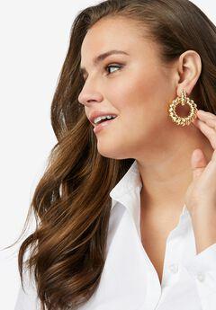 Twisted Hoop Earrings,
