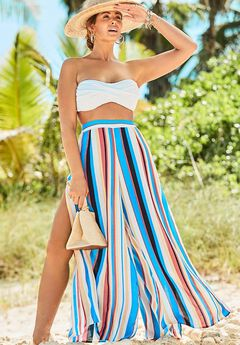 Mara Beach Pant with Side Slits,
