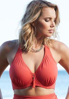 Underwire Halter Bikini Top, GERANIUM