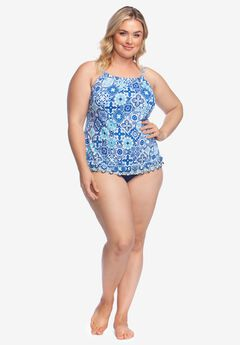 High-Neck Tankini by 24th & Ocean,