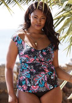 Off-the-Shoulder Tankini Top By Anne Cole,