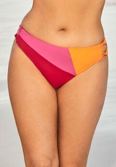 Romancer Colorblock Bikini Bottom, PINK ORANGE