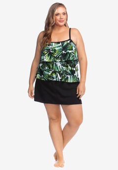 f70d899101faf Three-Tiered Tankini Top by Maxine of Hollywood