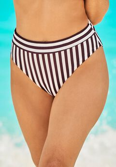 Maestro Ribbed High Waist Bikini Bottom,
